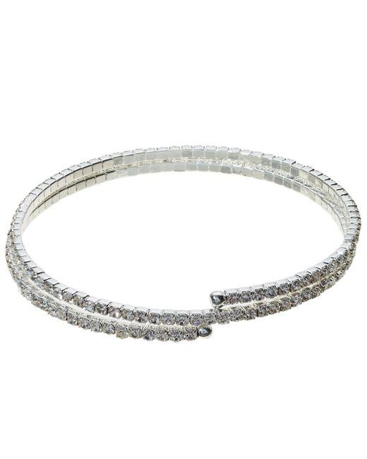 John Lewis   Metallic Skinny Double Row Diamante Bracelet   Lyst