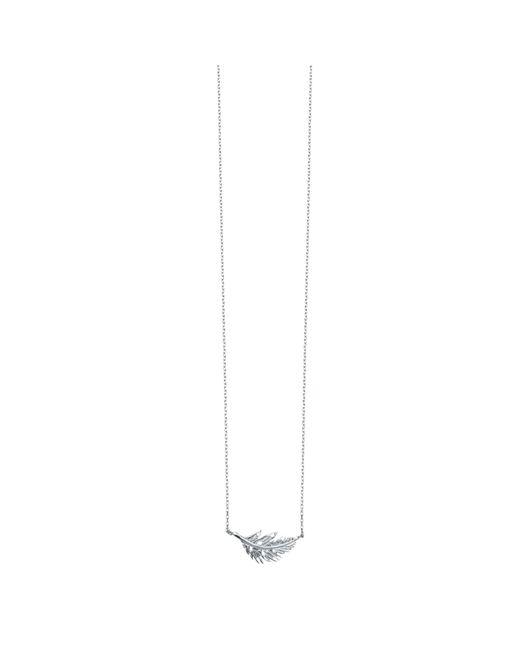 Estella Bartlett | Metallic Feather Pendant Necklace | Lyst