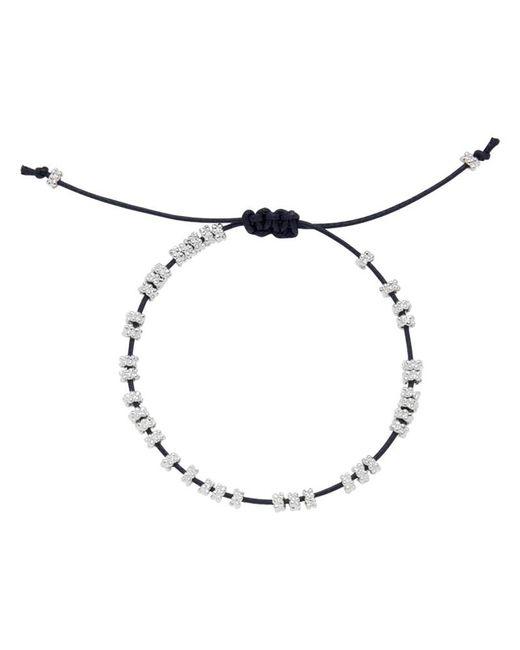 Estella Bartlett | Blue Daisy Silver Plated Cotton Cord Bracelet | Lyst