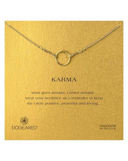 Dogeared | Metallic Gold Plated Original Karma Necklace | Lyst