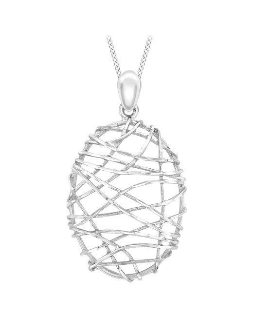 Ib&b | Metallic 9ct White Gold Candy Cage Pendant | Lyst