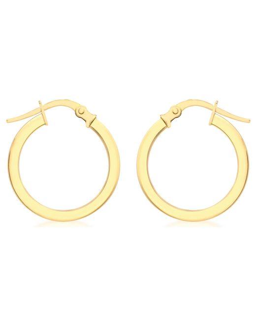 Ib&b | Metallic 9ct Yellow Gold Creole Leverback Hoop Earrings | Lyst
