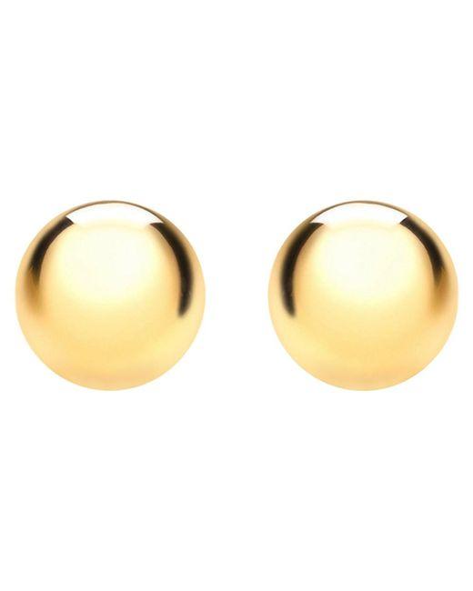 Ib&b | Metallic 18ct Gold Ball Stud Earrings | Lyst