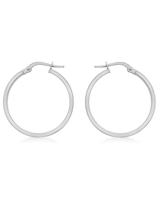 Ib&b | 9ct White Gold Hoop Earrings | Lyst