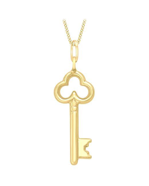 Ib&b | Metallic 9ct Gold Key Charm Pendant | Lyst