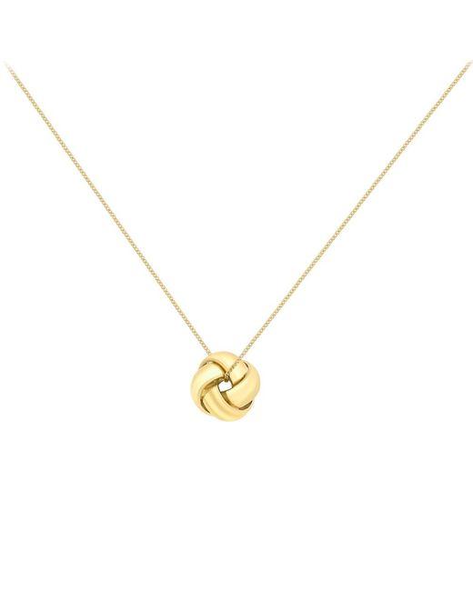 Ib&b   Yellow 9ct Gold Knot Pendant   Lyst