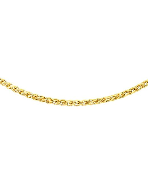 Ib&b | 18ct Yellow Gold Spiga Chain Necklace | Lyst