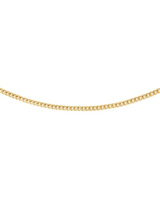Ib&b | Metallic 18ct Gold Diamond Cut Curb Chain Necklace | Lyst