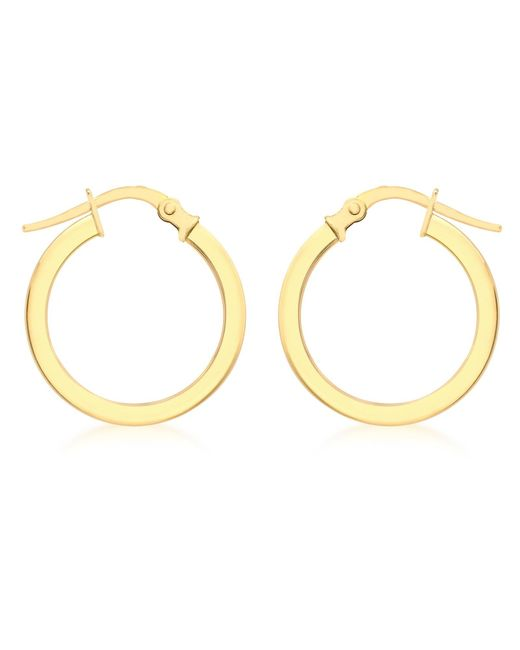 Ib&b | Metallic 9ct Yellow Gold Creole Hoop Medium Earrings | Lyst