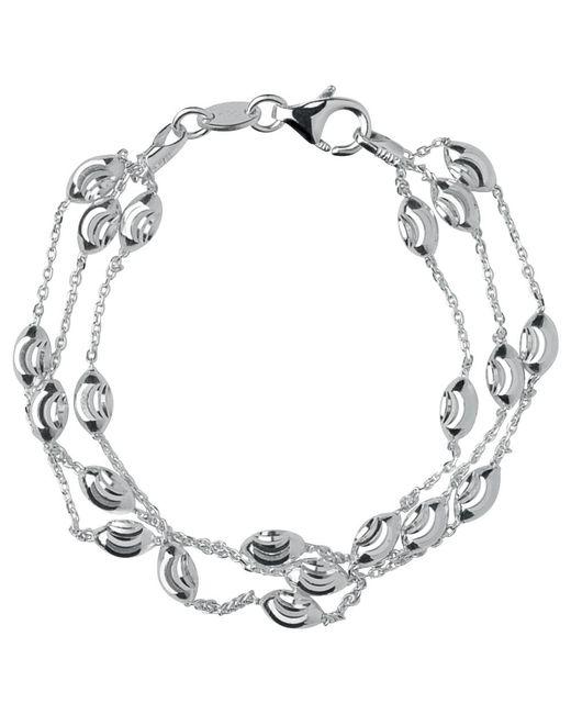 Links of London | Metallic Essentials Sterling Silver Beaded Chain 3 Row Bracelet | Lyst