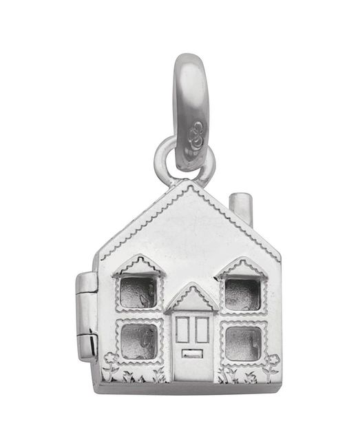 Links of London | Metallic Sterling Silver Home Is Where The Heart Is Locket Charm | Lyst