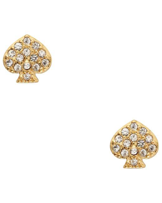 kate spade new york | Metallic Crystal Stud Earrings | Lyst