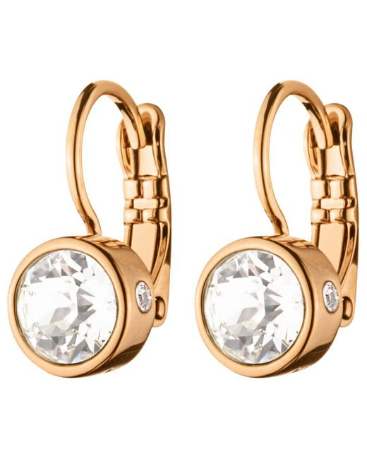 Dyrberg/Kern - Metallic Dyrberg/kern Swarovski Crystal Hook Earrings - Lyst