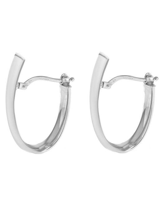 John Lewis - Metallic Ibb 9ct White Gold Polished Huggy Hoop Earrings - Lyst