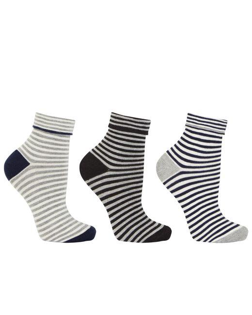 John Lewis | Multicolor Turn Over Stripe Ankle Socks | Lyst