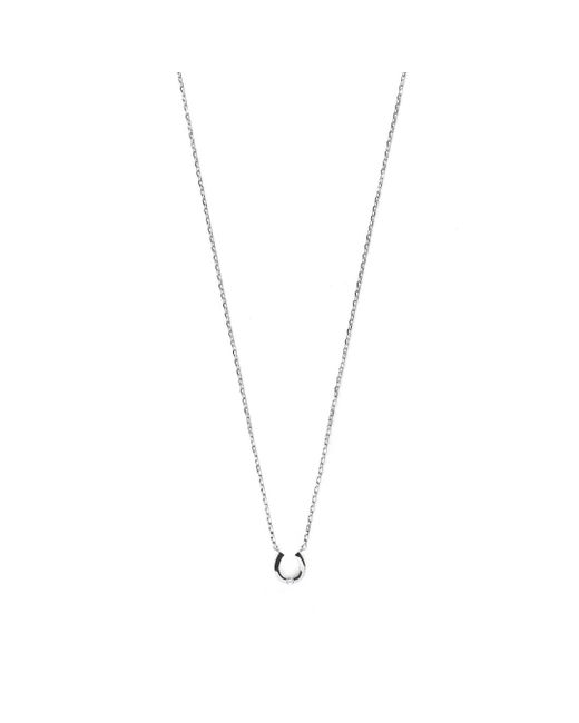 Estella Bartlett | Metallic Diamanté Horseshoe Necklace | Lyst