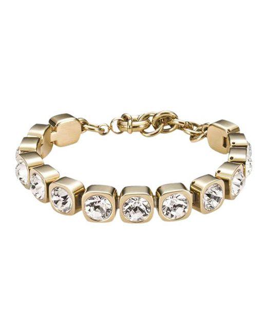 Dyrberg/Kern - Metallic Conian Gold Single Crystal Bracelet - Lyst