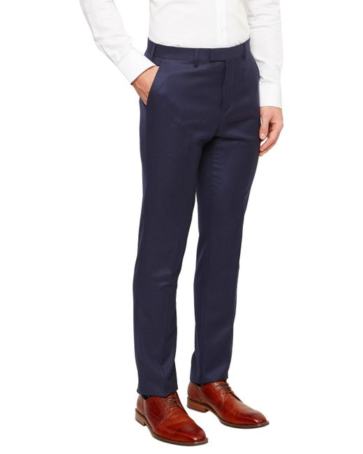 Ted Baker | Blue Chalkyt Wool Birdseye Tailored Suit Trousers for Men | Lyst