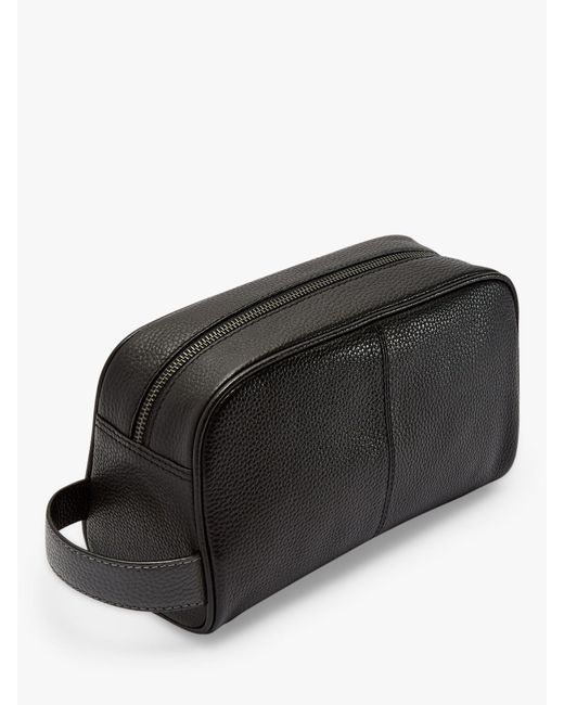 ... Ted Baker - Black Razor Leather Wash Bag for Men - Lyst ... d1d7f007237f0