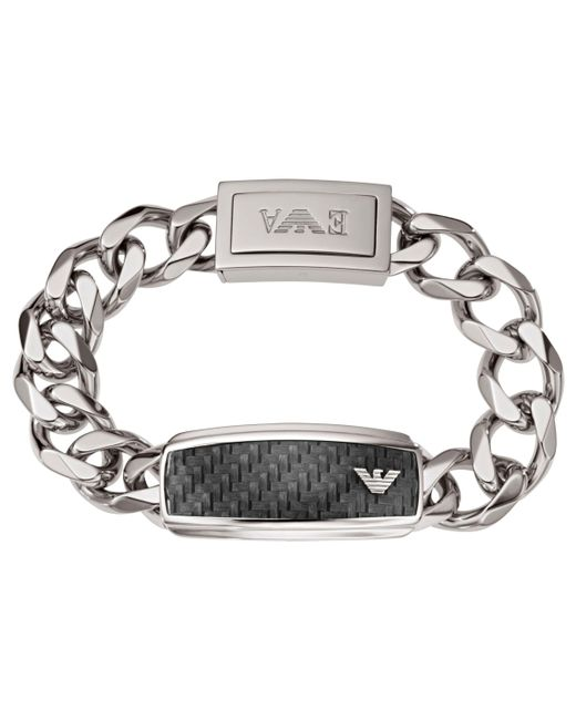 Emporio Armani - Metallic Men's Stainless Steel Chunky Chain Bracelet for Men - Lyst