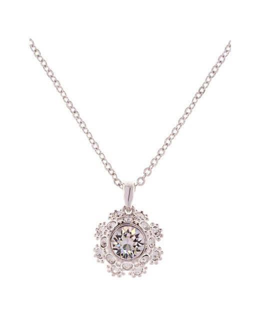 Ted Baker - Metallic Sirou Swarovski Crystal Daisy Lace Pendant Necklace - Lyst