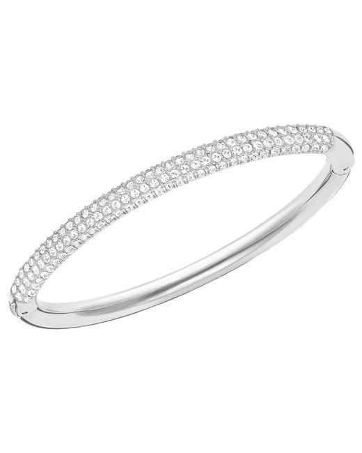 Swarovski - Metallic Stone Mini Crystal Bangle - Lyst
