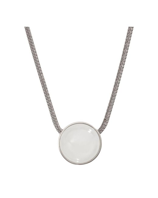 Skagen - Metallic Sea Glass Round Pendant Necklace - Lyst