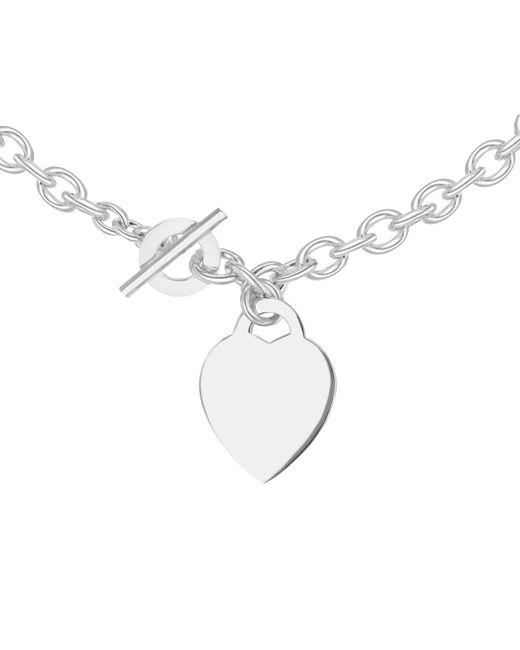 Ib&b - Metallic Sterling Silver Heart Link Necklace - Lyst