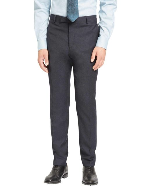 Jaeger - Blue Super 100s Wool Mouline Slim Fit Suit Trousers for Men - Lyst