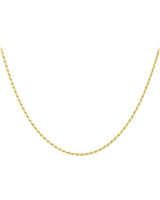 Ib&b | Metallic 9ct Gold Diamond Cut Rope Chain | Lyst