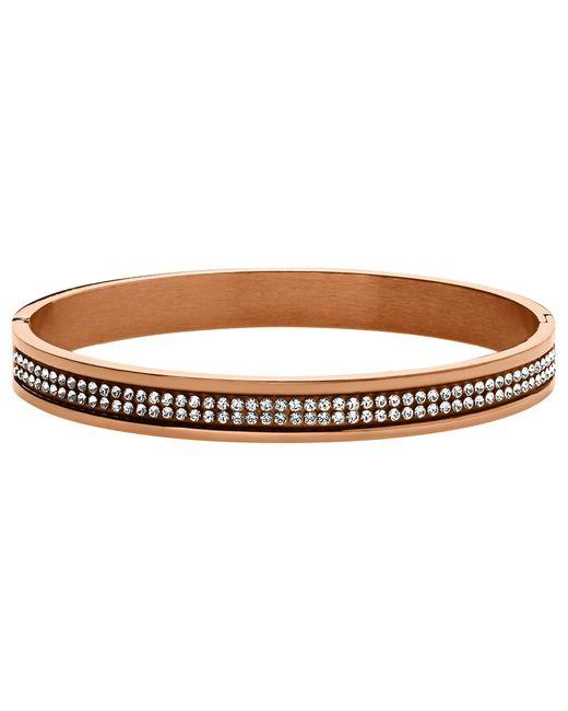Dyrberg/Kern - Metallic Lorbel Rose Gold Plated Swarovski Crystal Bracelet - Lyst