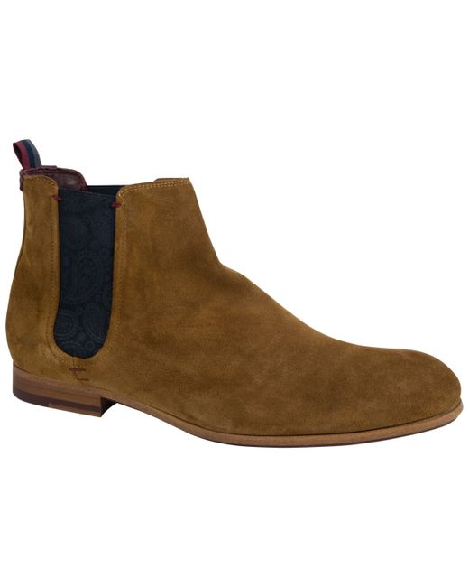 fd2e7970f9bf ... Ted Baker - Brown Saldor Chelsea Boots for Men - Lyst ...