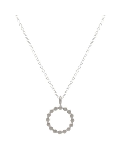 Dogeared | Metallic The Circle Pendant Necklace | Lyst