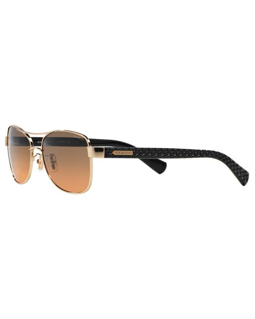 a935bfaf6cb39 Coach Aviator Sunglasses Gold