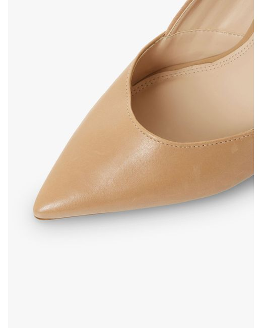 38d53cef2e69 ... Dune - Natural Barrelle Panel Detail Pointed Court Shoes - Lyst ...