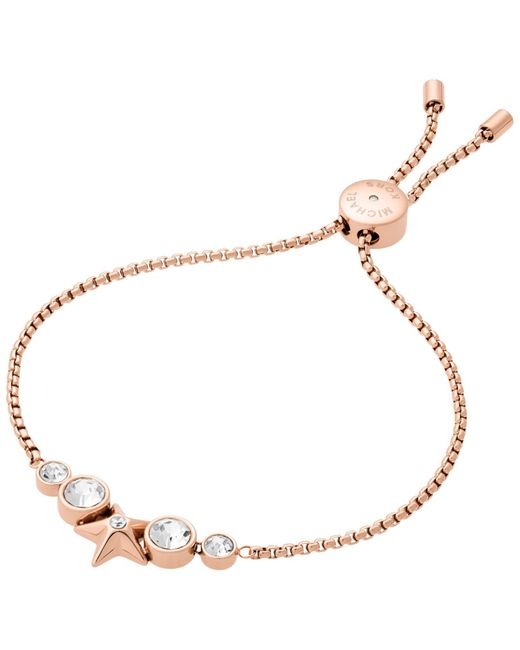 Michael Kors | Pink Pave Matchstick Hinge Open Cuff | Lyst