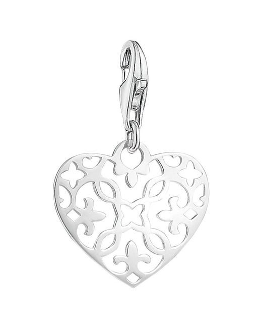 Thomas Sabo - Metallic Charm Club Filigree Heart Charm - Lyst