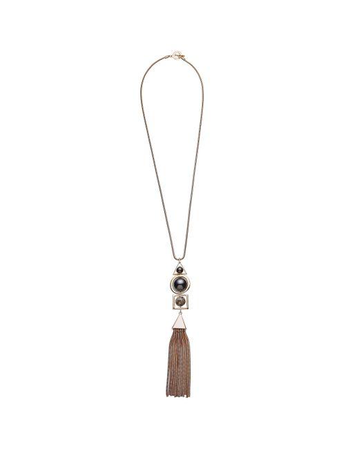 John Lewis - Metallic Long Tassel Solar Pendant Necklace - Lyst