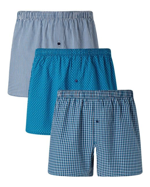 John Lewis | Blue Multi Pattern Woven Cotton Boxers for Men | Lyst