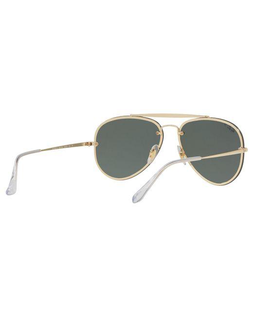 d22e56ab28ef90 ... Ray-Ban - Metallic Rb3584n Blaze Polarised Aviator Sunglasses for Men -  Lyst ...