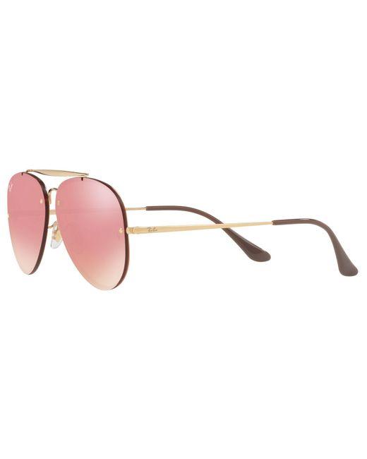 245daf71acd ... Ray-Ban - Pink Rb3584n Unisex Blaze Aviator Sunglasses - Lyst ...
