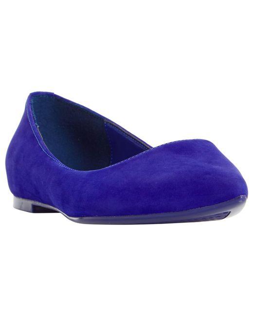 Dune | Blue Aeron Pointed Toe Ballet Pumps | Lyst