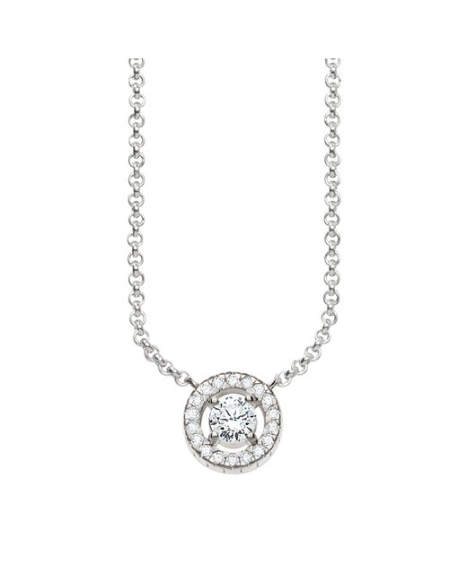 Thomas Sabo - Metallic Glam & Soul Cubic Zirconia Romantic Round Pendant Necklace - Lyst