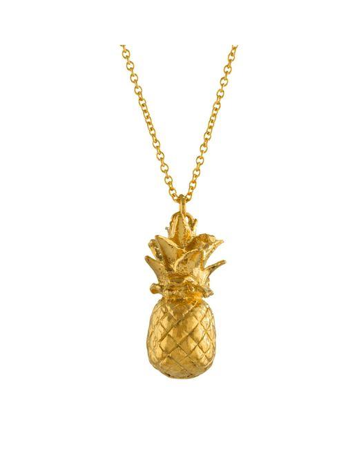 Alex Monroe | Metallic Long Pineapple Pendant Necklace | Lyst