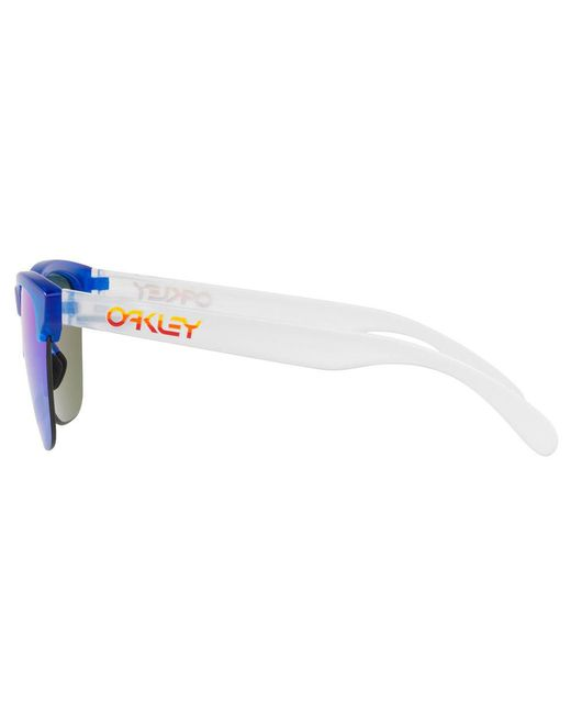 8fe4dd946d Lyst - Oakley Oo9374 Men s Frogskins Lite Round Sunglasses in Blue