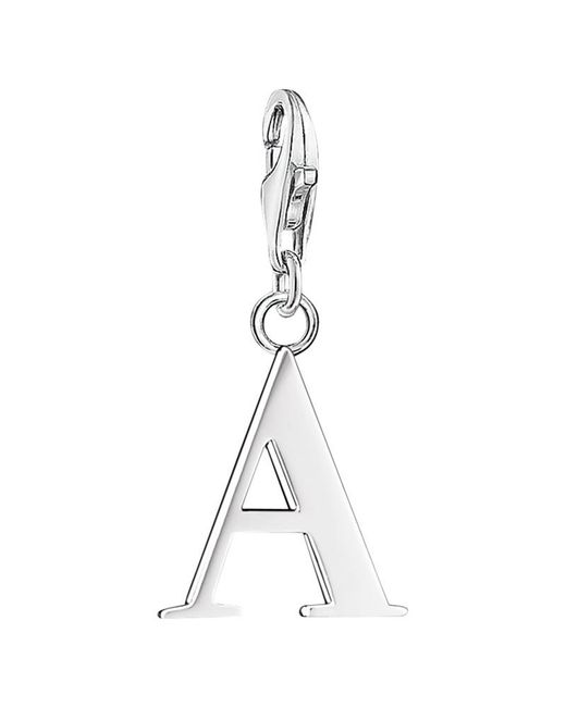 Thomas Sabo | Metallic Sterling Silver Charm Club Letter Charm | Lyst