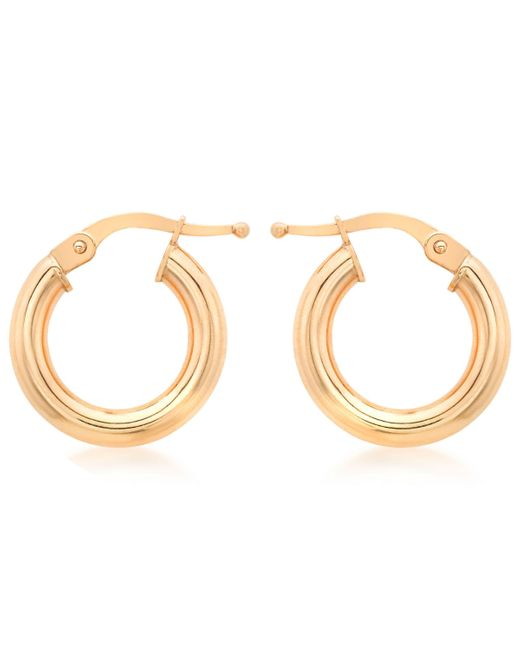 Ib&b - Pink 9ct Rose Gold Creole Earrings - Lyst