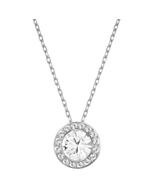 Swarovski | Metallic Angelic Round Crystal Pendant Necklace | Lyst