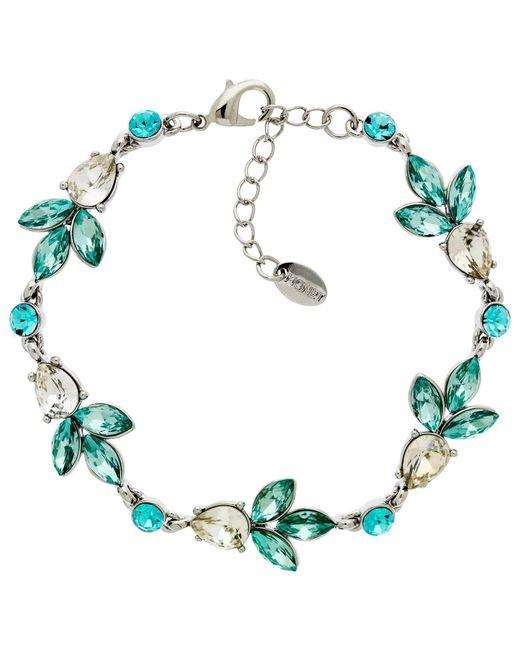 Monet - Metallic Glass Crystal Teardrop Bracelet - Lyst