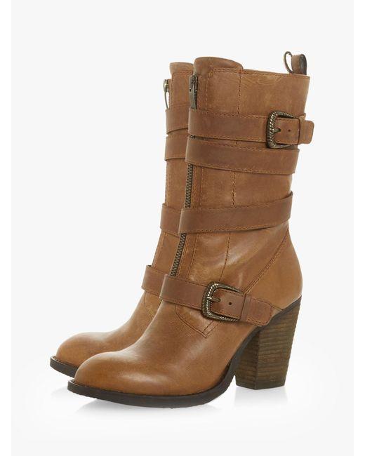 4ccdf944500 ... Steve Madden - Brown Yens Calf Boots - Lyst ...